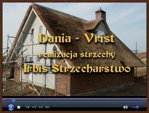 Realizacja strzechy trzcinowej w Dani, w miejscowości Vrist. Strzecha wykonana przez Irbis Strzecharstwo